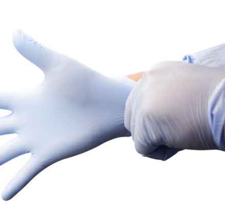 Violet Vinyl Examintion Glove Powder Free