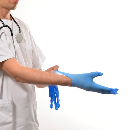 Blue Nitirle Glove