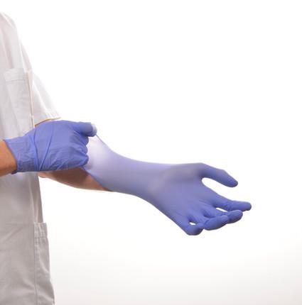 Violet Nitrile Examination Glove Powder Free