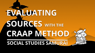 EVALUATING SOURCES WITH THE CRAAP METHOD