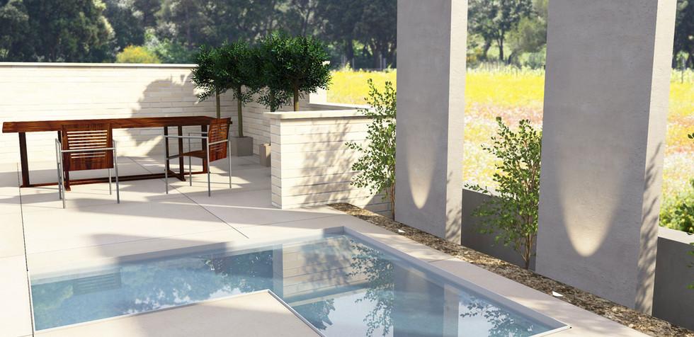Wasserbecken  Terrasse