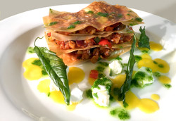 courgette pepper pesto mille feuille