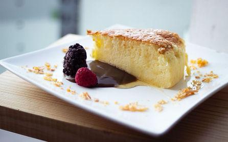 עוגת גבינה וחמאת קקאו