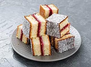 עוגת למינגטון פירות יער