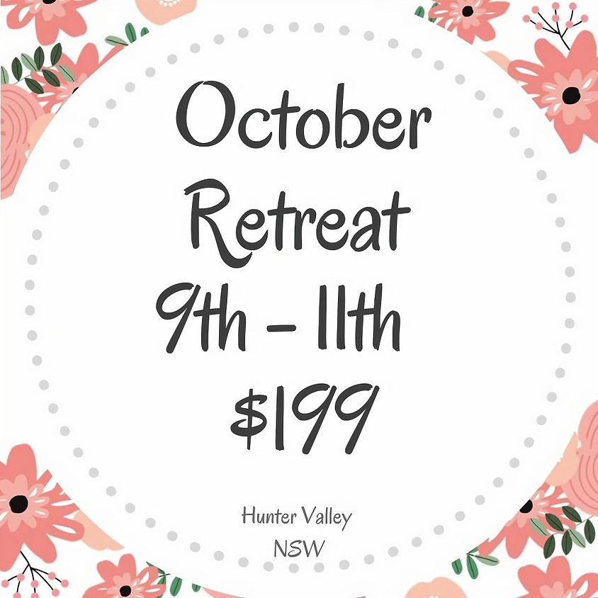 Makers Craft Retreat  $199  3 Days Oct 9th - 11th   2020