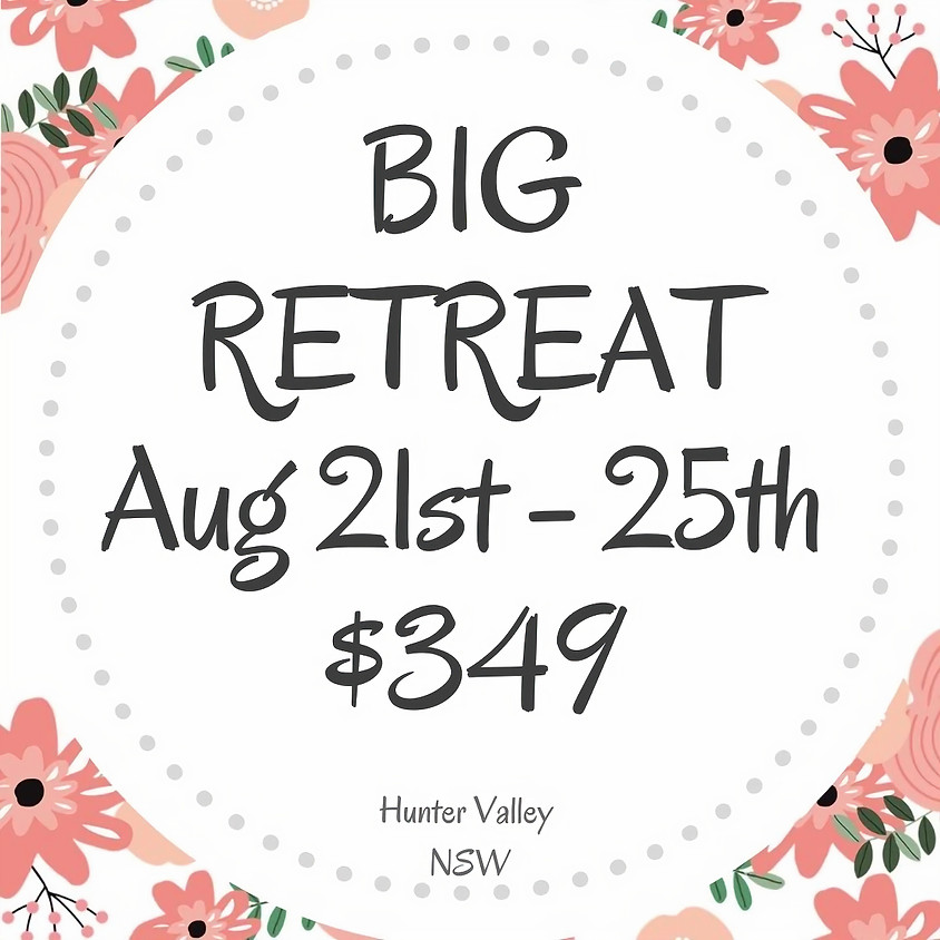 Makers BIG Craft Retreat  $349 August 21st - 25th 5 Days