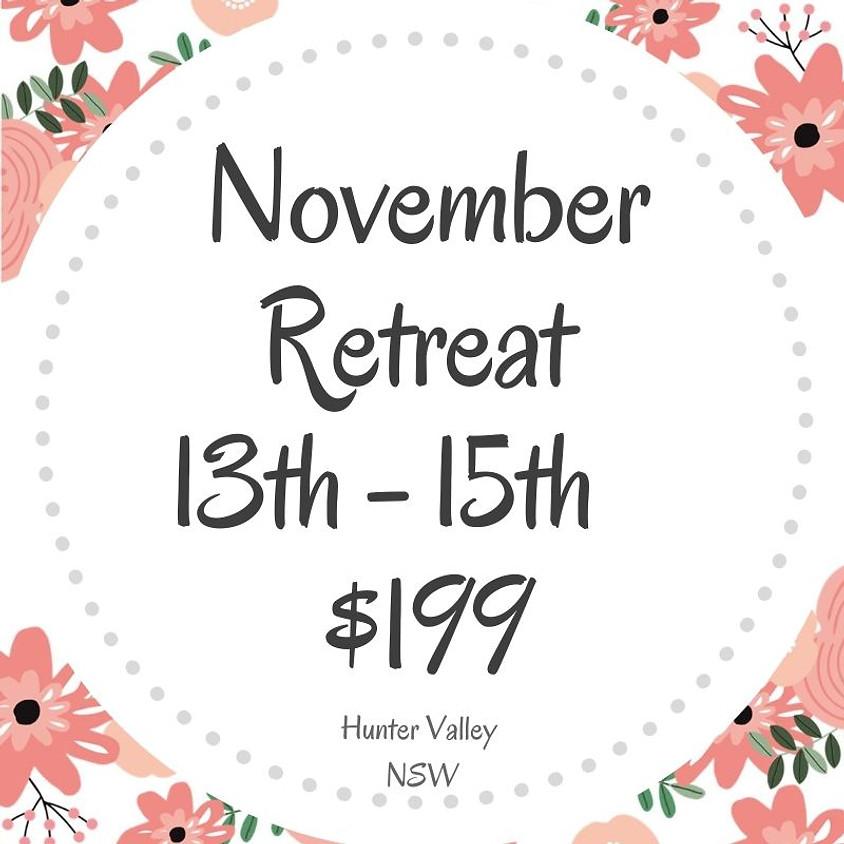 Makers Craft Retreat  $199  3 Days Nov 13th - 15th 2020