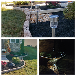 Small landscape design with mulch and decorative stone,  berks county, Pennsylvania.