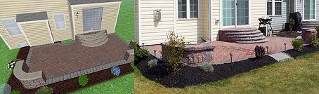 Backyard paver patio design
