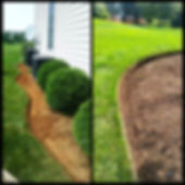 Bed edging and landscaping, mulchin install  berks county, Pennsylvania.