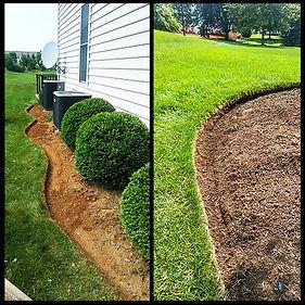 Bed edging and landscaping, mulchin install  berks county, Pennsylvania.