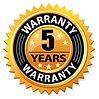 5 year workmanship defect warranty