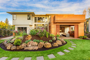 Beautiful Luxury Home Exterior  with Bal