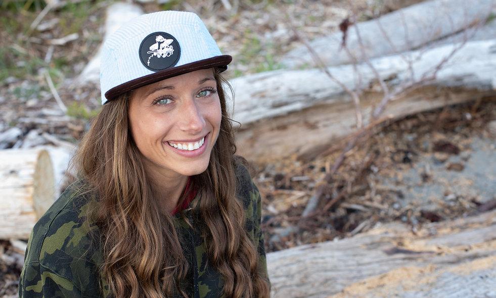 Carolina Seersucker Brown Suede Brim