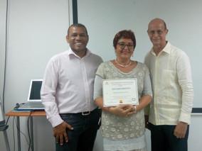 La Interprete Judicial María Antonietta Ferro recibe reconocimiento en la República Dominicana.