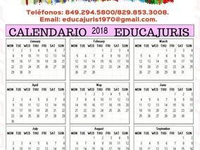 Calendario EDUCAJURIS 2018!