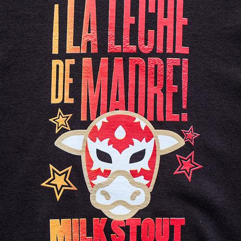 """""""La Leche De Madre"""" Brown Cotton Long-Sleeve Tee"""