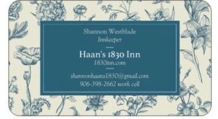 Shannon's Business Card