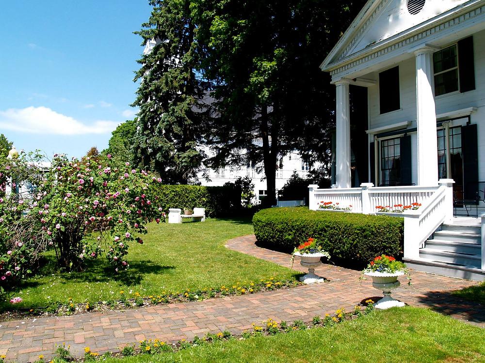 Haan's 1830 Inn's beautiful front yard