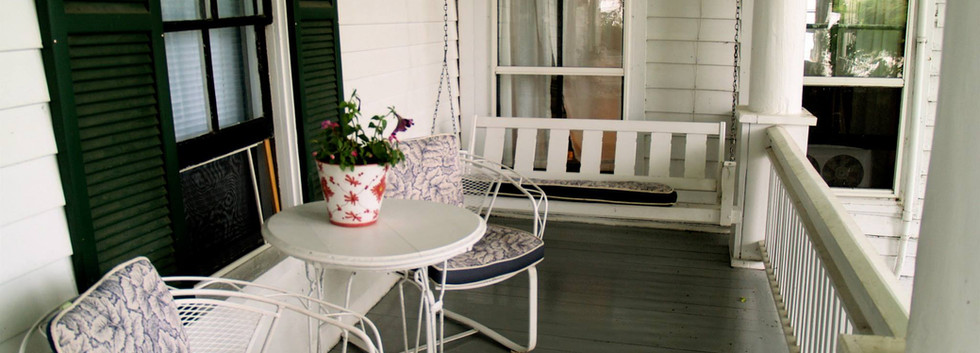 """The """"west wing"""" porch"""