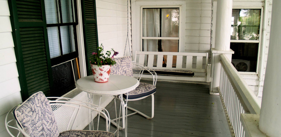 "The ""west wing"" porch"