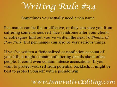 Pen Names in a Not-Always-Pretty Publishing World