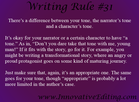 A Clarification on Authorial Tone