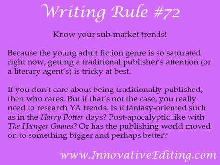 The Young Adult Fiction Writing Games