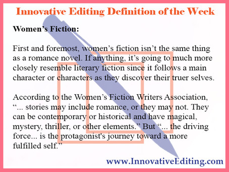 What Women's Fiction Writing Is and Is Not