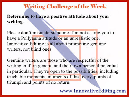 Attitude: The Writer's Final Frontier