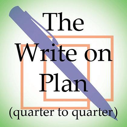 The Write on Plan