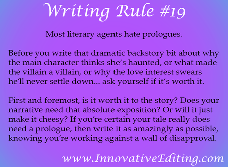 Your Story Probably Doesn't Need That Prologue