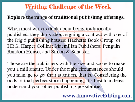 The 3 Traditional Publishing Possibilities