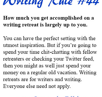 What to Expect in an Awesome and Worthwhile Writing Retreat!
