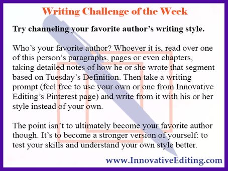The Writing Style Challenge I Ran Away From