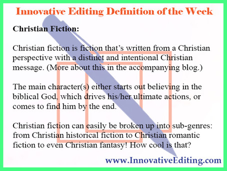 What Can We REALLY Say About Christian Fiction Writing?