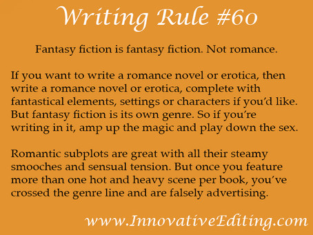 Contemporary Fantasy Fiction Warning: Rated R?