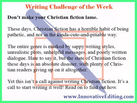 Why Is Christian Fiction So Bad?