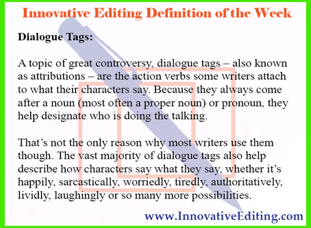 Dealing With the Definition of Dialogue Tags