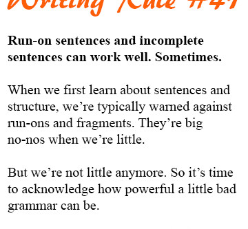How Bad Grammar Makes Your Story Look Oh So Good