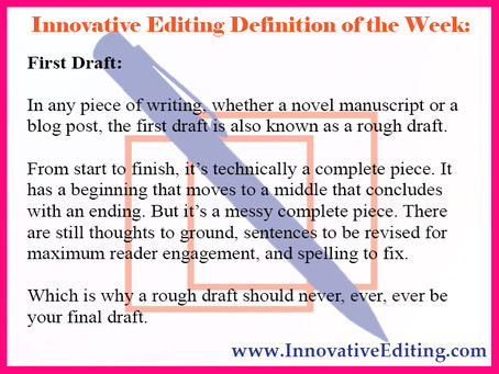 What to Expect From Your Novel Manuscript's First Draft