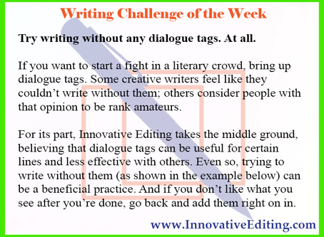 Writing Without Dialogue Tags
