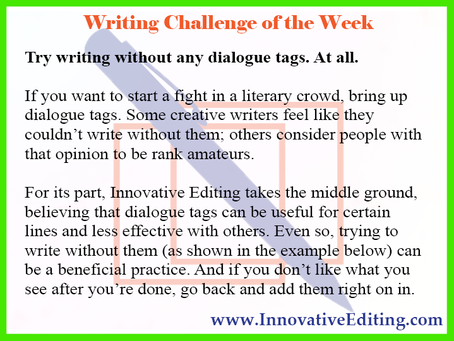 Writing Without Dialogue Tags (It Can Be Done)