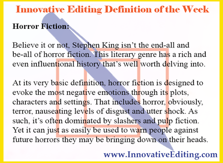 Oh, the Horror (Fiction)!