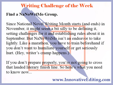 One of the Best – and Worst – Ways to Get Your NaNoWriMo On