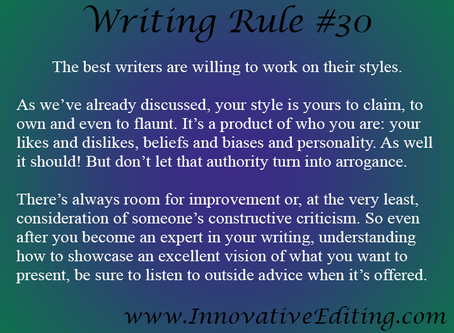 Famous Authors, Critique Groups and Your Writing Style