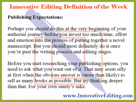 Leave Your Publishing Expectations at the Door