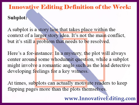 Subplots: A Great Way to Spice Up Your Story