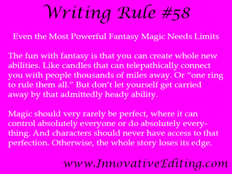 Dial Down Your Fantasy Fiction Magic to Deepen the Drama
