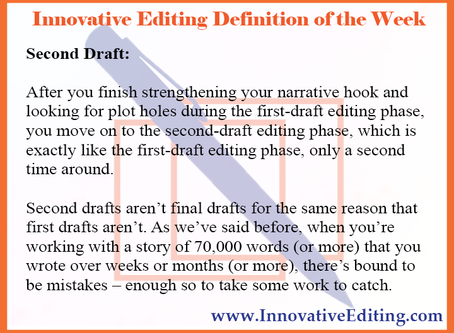 Stop, Drop and Roll While Editing a Second Draft